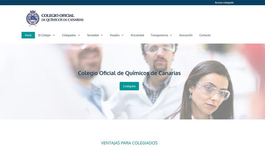 Web Colegio Oficial de Químicos de Canarias