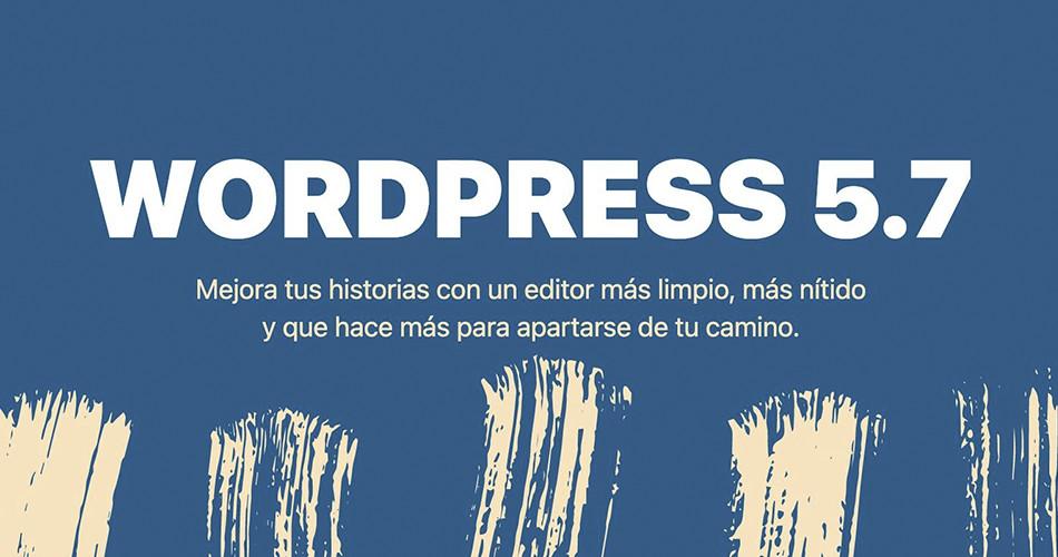 Novedades en WordPress 5.7