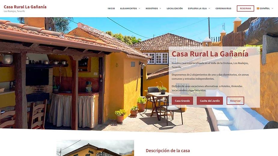 Diseño web Casa Rural La Gañanía